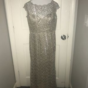 Gold shimmery mother of the bride or groom dress